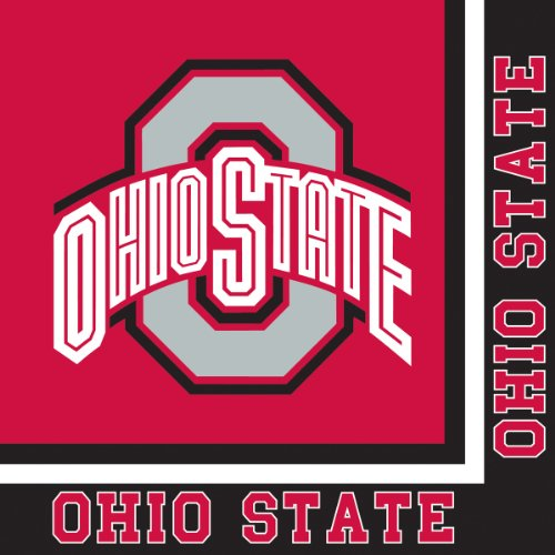 Creative Converting Ohio State Buckeyes Luncheon Napkins (20 Count)