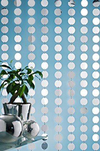 Designervorhang Kunststoffvorhang Türvorhang Galaxy Spiegelplättchen