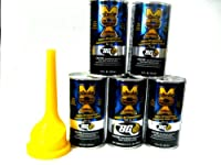 5 Pack - Bg MOA Motor Oil Additive (5) 11oz. Cans with Bg Funnel from BG