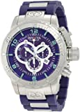 Invicta Men's 6672 Corduba Chronograph Blue Dial Blue Polyurethane Watch