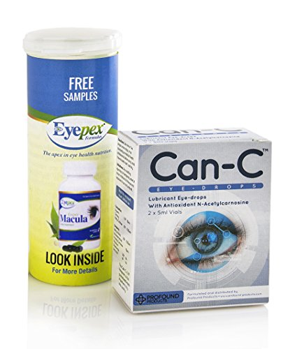 Can-c Eye-drops 2x5ml Vials with Free Macula Sample (Can C Drops compare prices)
