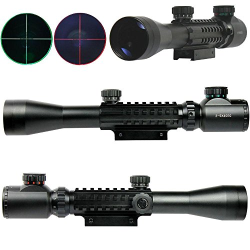 Pixars 3-9x40 Tactical Rifle Scope Red & Green illuminated Mil Dot 20mm Picatinny (Mossberg Flex 4 Position compare prices)