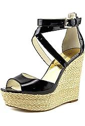 MICHAEL Michael Kors Women's Cicely Metallic Leather Platform Sandals