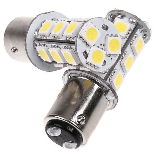 Mictuning® 2 Pcs 1157 Bay15D 18 5050 Smd Led White Tail Turn Signal Light Bulbs
