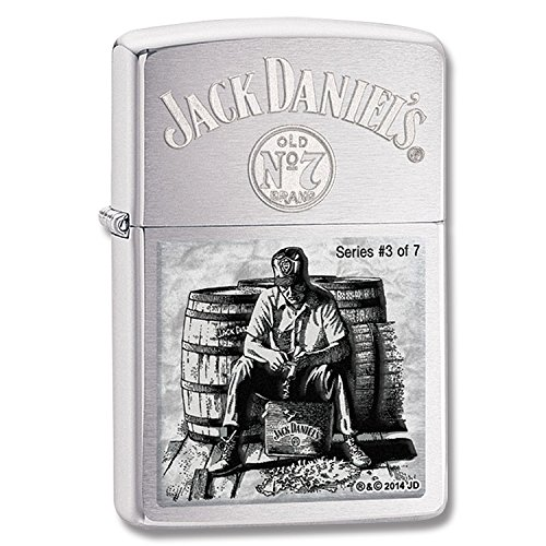 Zippo, Accendino, Argento (Edelstahloptik), motivo: Jack Daniel's