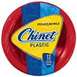 Chinet Premium Plastic Bowls, Red/Blue, 12 Count
