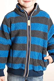 Funnel Neck Stripe Borg Fleece Jacket [T88-3004W-Z]