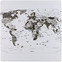 3dRose Map of the World - Atlas - Mouse Pad, 8 by 8 inches (mp_108627_1)
