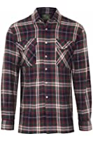Mens Lumberjack Flannel Brush Cotton Work Check Shirt Country Wear