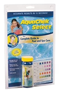 Aquachek 541604a select kit test strip for swimming pools ph test kits patio for Swimming pool test kits amazon