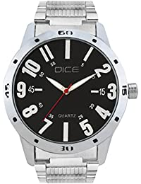 "Dice ""Numbers-4281"" Formal Round Shaped Wrist Watch For Men. Fitted With Beautiful Black Dial, Stainless Steel..."