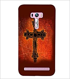PrintDhaba Cross D-2383 Back Case Cover for ASUS ZENFONE SELFIE ZD551KL (Multi-Coloured)