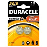 Duracell Button Battery Lithium 3V DL2016 Pack of 2 75072666