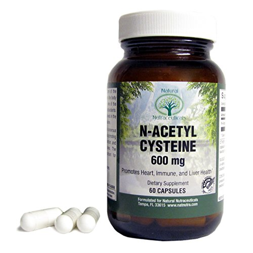 Natural Nutra N Acetyl L Cysteine (NAC) Amino Acid Supplement, 600 mg, 60 Capsules (N Acetyl Cysteine 1000 compare prices)
