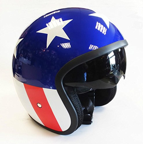 VIPER RS-V06 OPEN FACE MOTORCYCLE HELMET EASY RIDER USA STARS AND STRIPES EXTRA LARGE