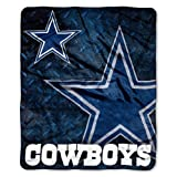 NFL Dallas Cowboys Raschel Plush Throw Blanket, Roll Out Design