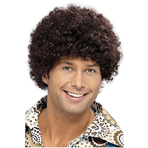 70s Disco Dude Brown Wig - One Size