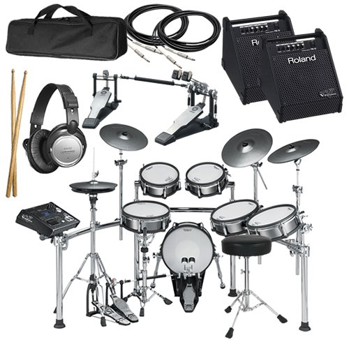 Roland TD-30KV V-Drums COMPLETE BUNDLE w/ Monitor Speaker & Hardware
