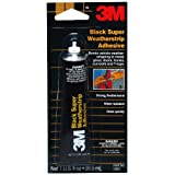 3M 03602 Black Super Weatherstrip Adhesive, 1 oz. Tube
