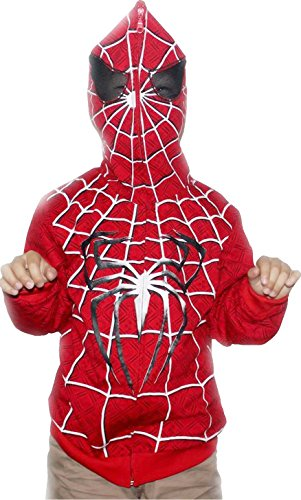 Boys' Spiderman Full Face Character Hoodie