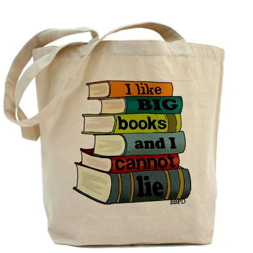 CafePress I Like Big Books Tote Bag - Standard Multi-color