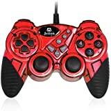 Dual Shock Wired USB Gamepad Controller For PC With Gripped Joysticks Ergonomic Design Vibration Force Feedback... - B00S8799YA