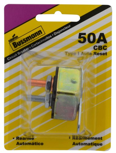 Bussmann (Bp/Cbc-50B-Rp) 50 Amp Type-I Stud Mount Circuit Breaker With Crosswise Bracket