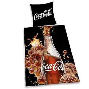 herding 449072050 parure de lit en linon motifs coca cola taie d 39 oreiller 80 x 80 cm housse. Black Bedroom Furniture Sets. Home Design Ideas