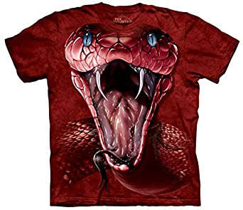 The Mountain - - T-shirt rouge Mamba hommes, Small, As Shown