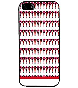PrintDhaba Pattern D-1513 Back Case Cover for APPLE IPHONE 4 (Multi-Coloured)