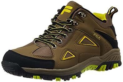 Fila Men S Trekking Brown Black And Yellow Running Shoes