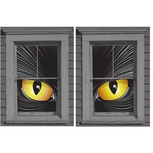 Cat-rageous the Beast Translucent Window Decorations Double Window Design