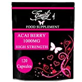 120 Acai Berry 1000mg capsules pill pack - Emily's Health Shop - High Strength Supplements