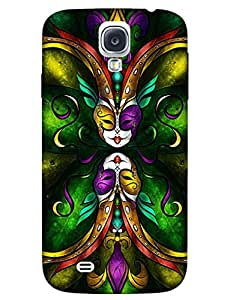 Bikzone Back Cover For Samsung Galaxy S4 (Multicolor)