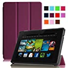 Fintie Amazon All New Kindle Fire HD 7 SmartShell Case Cover Ultra Slim Lightweight with Auto Sleep / Wake Feature - Purple (will only fit All New Kindle Fire HD 7 2nd Generation 2013 Model)