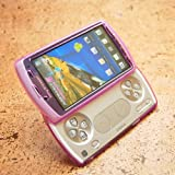 Gekiten Sony Ericsson XPERIA Play Purple【エクスぺリア プレイ TPU ポリッシュ ケース】 パープル 紫 CASESEXPLAY-TPUPolish-PP