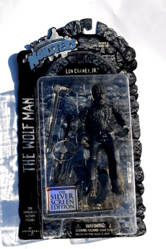 Buy Low Price Sideshow Universal Studios Monsters The Wolf Man 8″ Action Figure – Silver Screen Edition (B000Z7YQDA)