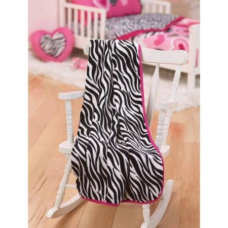 Garanimals Zebra Hearts Toddler Throw Blanket - 1