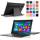 "MoKo Slim-fit Cover Case for Microsoft Surface Pro / Surface Pro 2 10.6"" Inch Windows 8 Tablet (Fits with or without Type / Touch Keyboard Cover), BLACK"