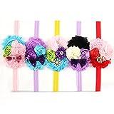 ROEWELL® Cute 5 Pcs Baby's Headbands Girl's Hair Bow Hairband (5 Pack)