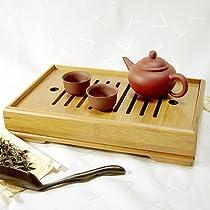 【送料無料】 竹製茶盤(中)