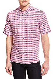 Luxury Pure Cotton Gingham Checked Shirt [T25-6933B-S]