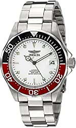 Invicta Men's 9404SYB Pro Diver Analog Display Automatic Self Wind Silver Watch