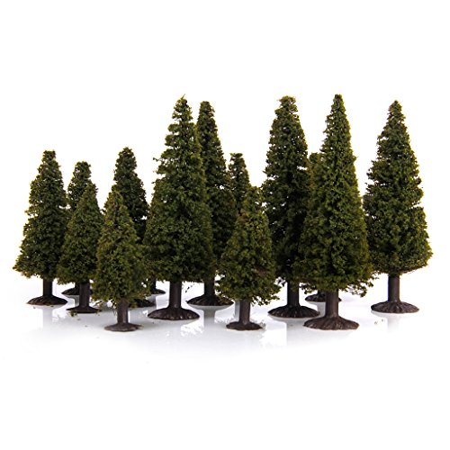 15pcs-green-scenery-landscape-model-cedar-trees-with-box
