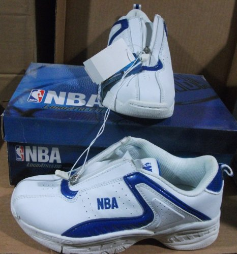 Nba Reebok Youth Leather Sneakers Size 3 1/2