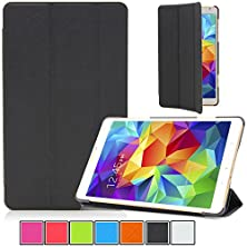 buy Tab S 8.4 (Sm-T700) Case,Ucover(Tm) Slim Multifunctional Hard Shell Cross Pattern Tri-Fold Design With Smart Cover Auto Wake/Sleep Exclusive For Samsung Galaxy Tab S 8.4 (Tri-Fold Black)