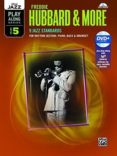 alfred-jazz-play-along-freddie-hubbard-more-vol-5-rhythm-section-piano-bass-drum-set-book-dvd-by-hub