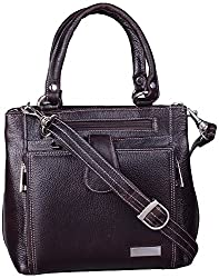 Leather Ways Women's Handbags (Dark Brown)