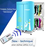 Portable Clothes Dryer Electric Laundry Drying Rack 33 LB Capacity Best Energy Saving Folding Dryer Quick Dry & Efficient Mode Digital Automatic Timer with FREE Remote Control