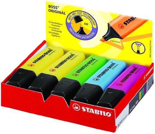 Stabilo 70/10-1 Boss Original, Multicolore (Pacco da 10)